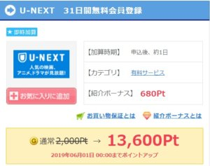 U-NEXT無料会員登録