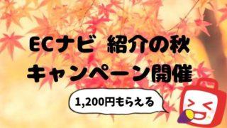 ECナビ 紹介の秋 キャンペーン開催